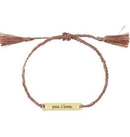 Santa Barbara Joy in a Jar   You, I love Bracelet