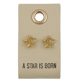 Santa Barbara Leather Tag with Earring