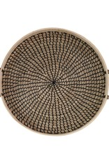 Creative Co-OP Round Seagrass and Bamboo Tray