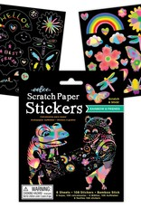 Eeboo Rainbow and Friends Scratch Paper Stickers