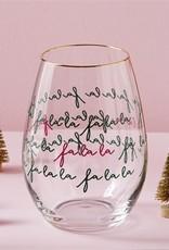 Tag TAG | fa la la stemless wine glass