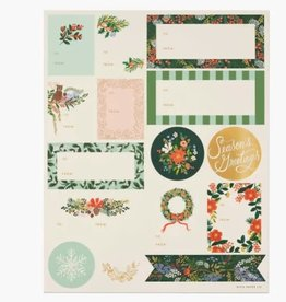 Rifle Paper Co. RPC | Pack of 3 Winter Floral Stickers & Labels
