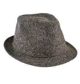 San Diego Hat Company San Diego Hat Co.   Kids Tweed Fedora - black
