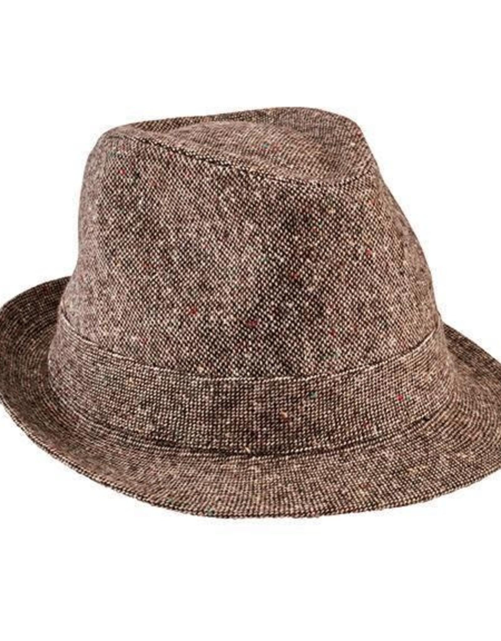 San Diego Hat Company San Diego Hat Co. | Kids Tweed Fedora - brown