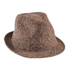San Diego Hat Company San Diego Hat Co.   Kids Tweed Fedora - brown