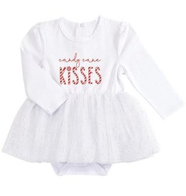 Stephan Baby Candy Cane Kisses Snapshirt Dress