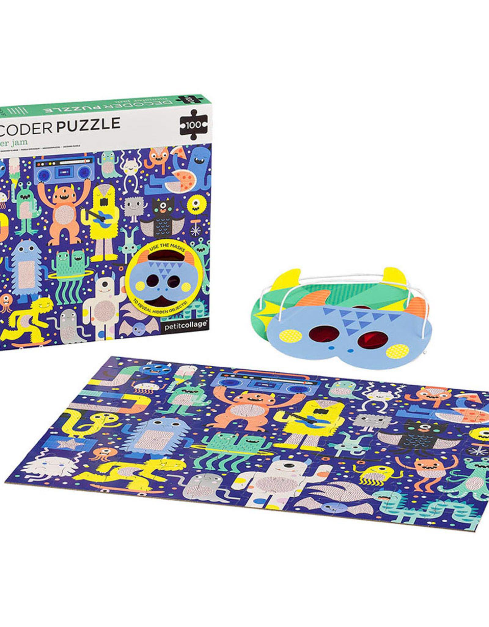petit collage | decoder puzzle monster jam