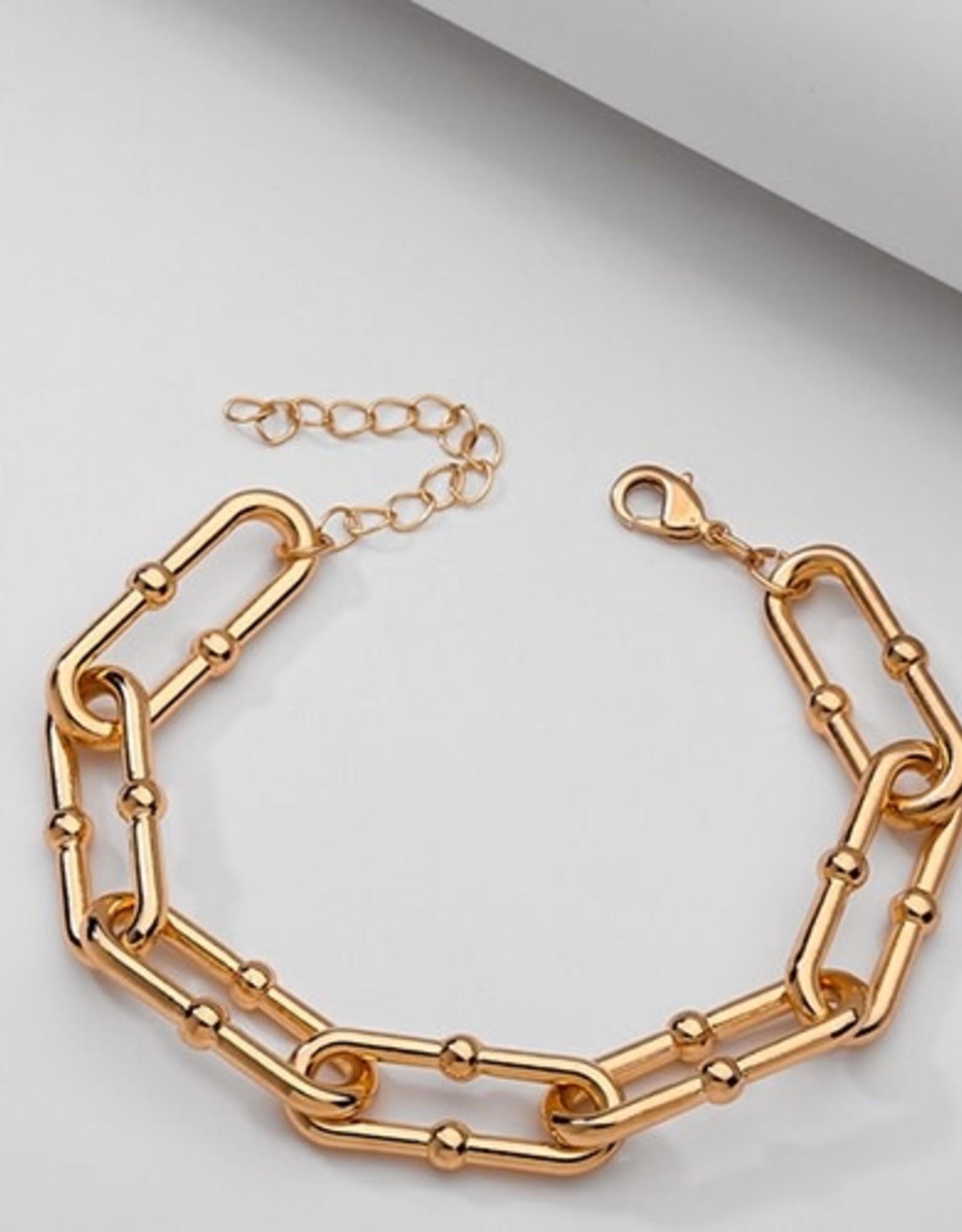 Koko & Lola KoKo & Lola | Nella Gold Chain Link Ball Bracelet
