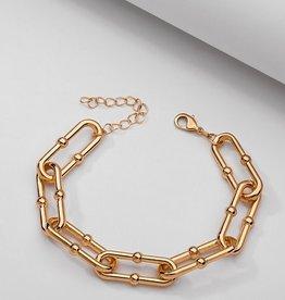 Koko & Lola KoKo & Lola   Nella Gold Chain Link Ball Bracelet