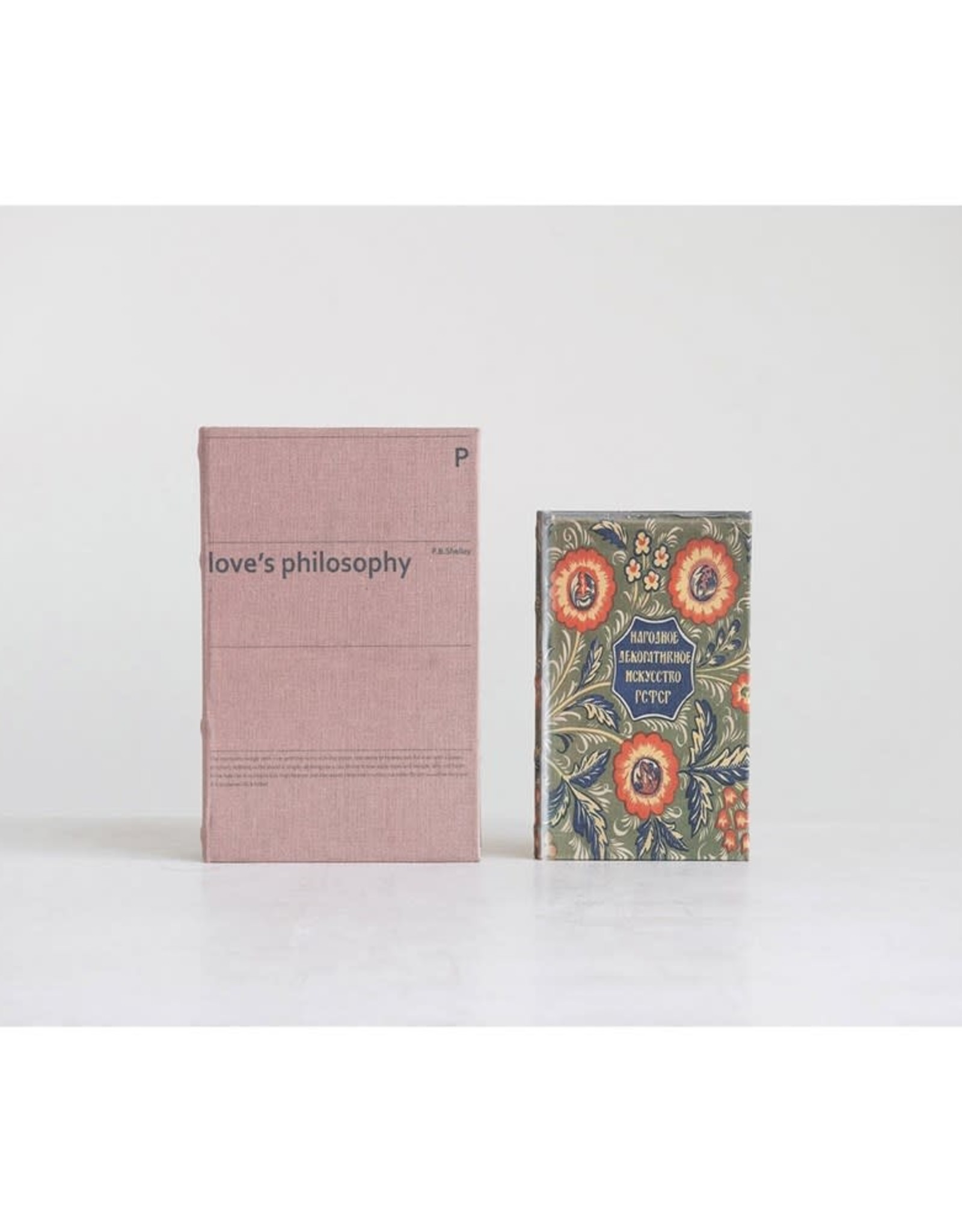 Creative Co-OP Book Boxes (Set of 2)