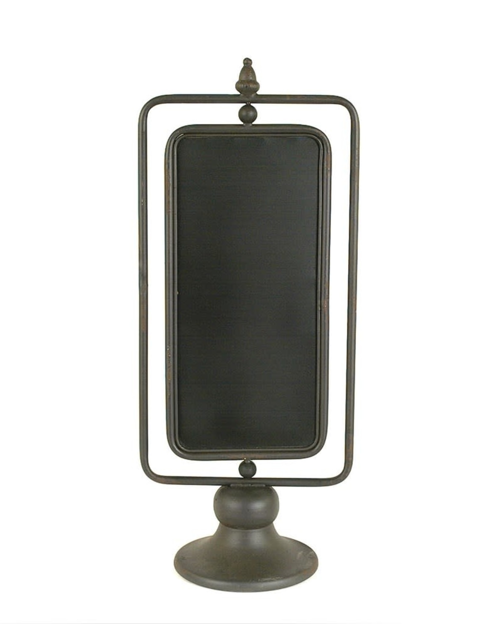"""Creative Co-OP 9-1/2""""L x 23-3/4""""H Metal 2-Sided Chalkboard on Stand"""