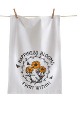 Tag TAG   happiness blooms from within floursack dishtowel