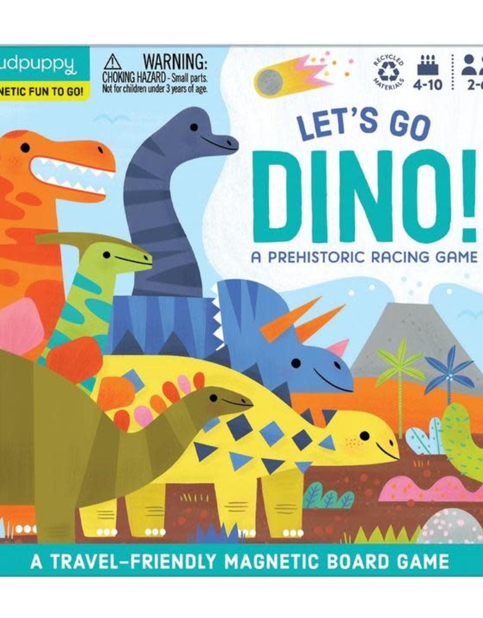 mudpuppy MudPuppy | Let's Go Dino Magnetic Board Game