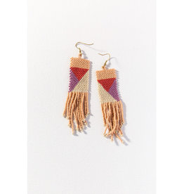 Ink+Alloy Ink+Alloy | pink, ivory, lilac, terracotta geo seed bead earring 3.75 in.