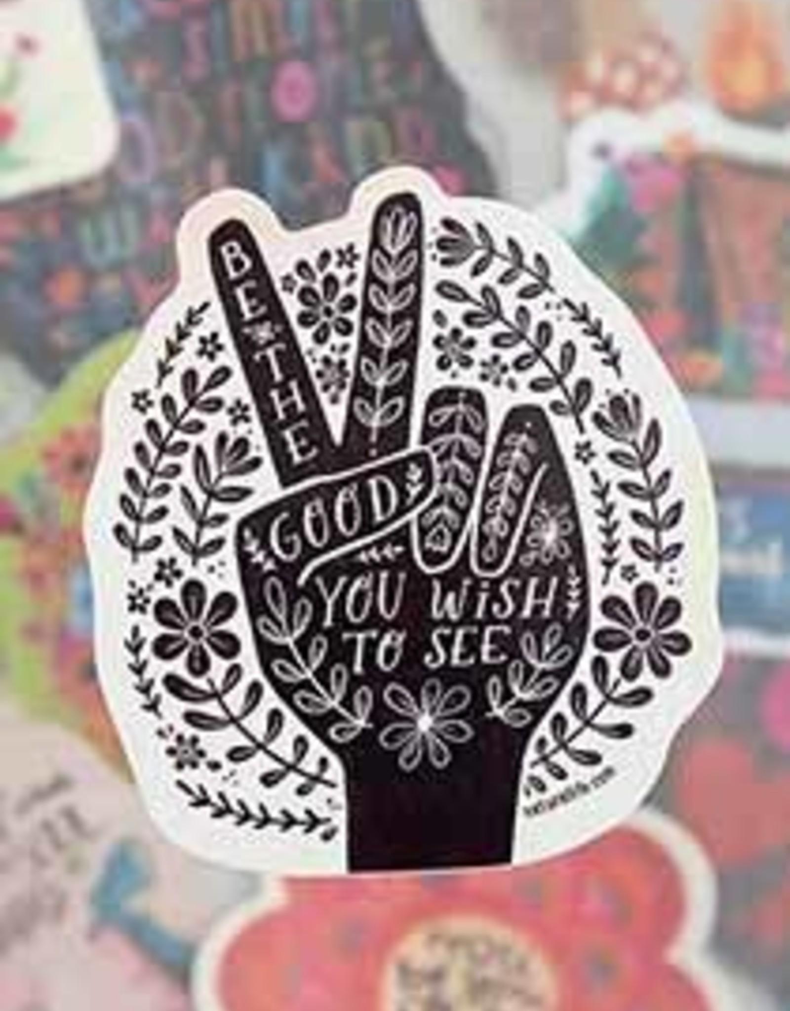 Natural Life Natural Life | be the good peace vinyl sticker