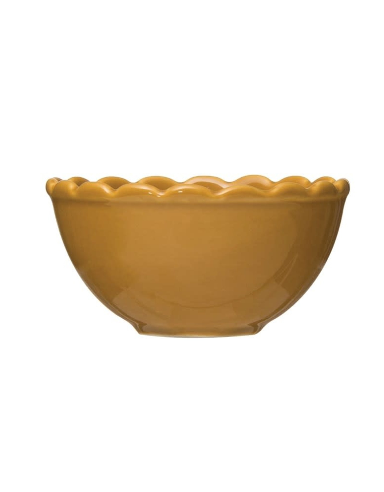 Creative Co-OP small scalloped mustard bowl