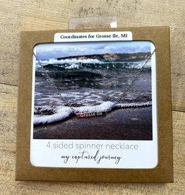Captured Journey Grosse Ile | 4 Sided Spinner Necklace