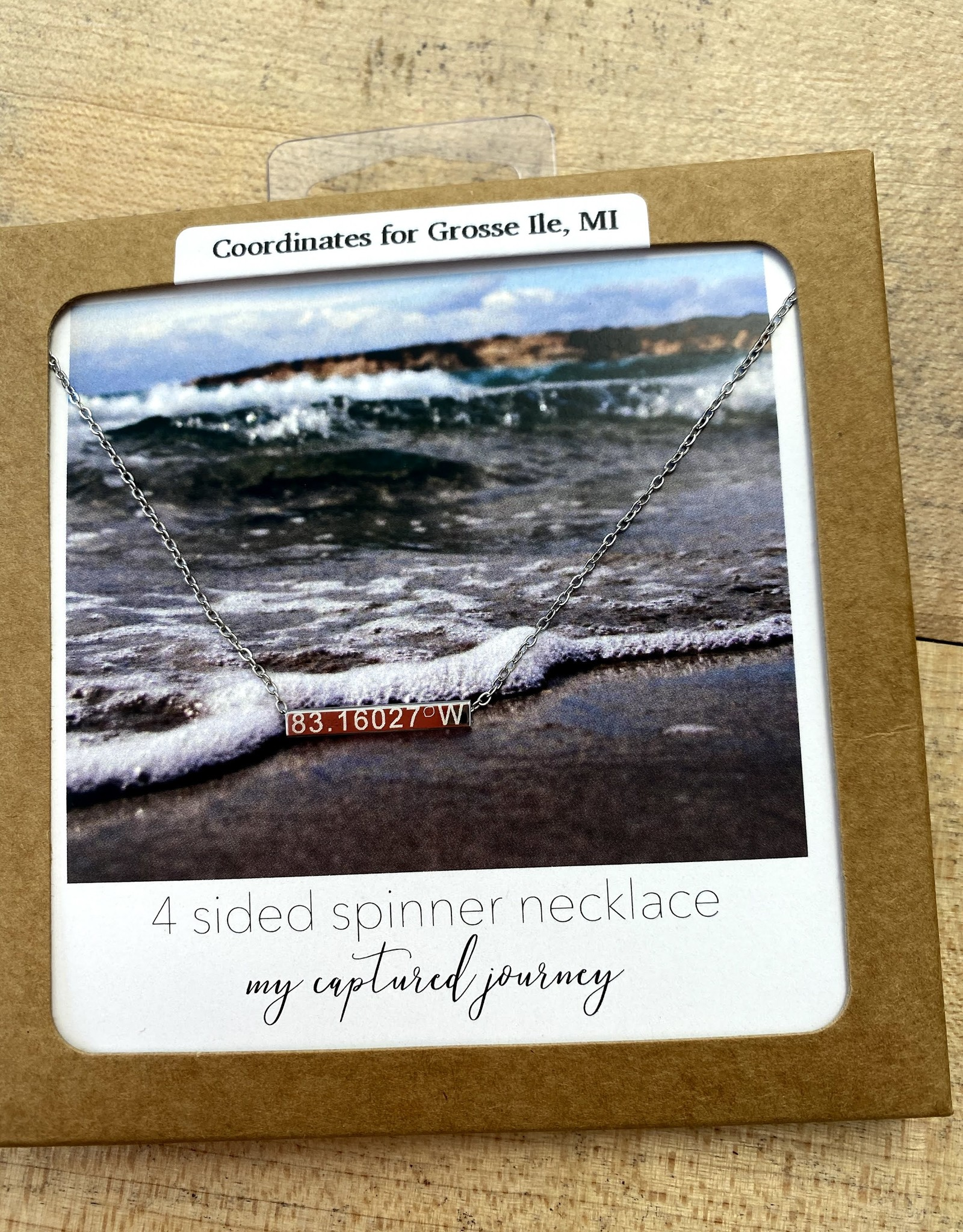 Captured Journey Grosse Ile   4 Sided Spinner Necklace