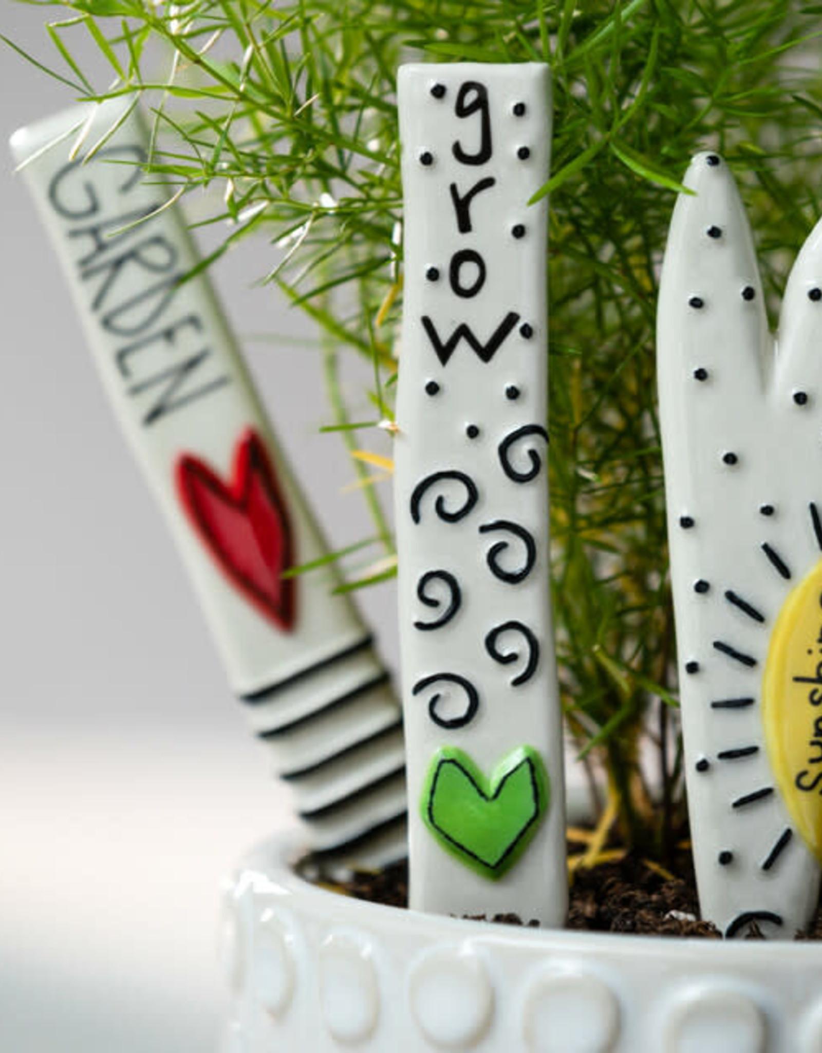 Demdaco Heartful Home Plant Picks - Garden