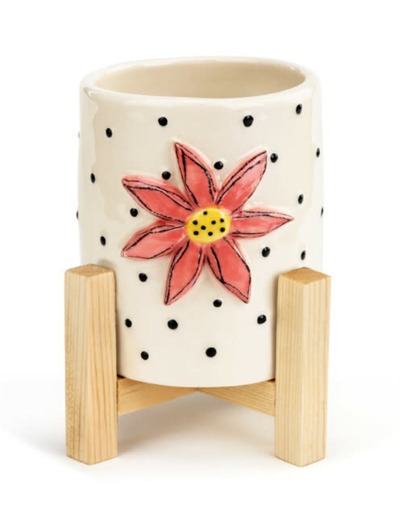 Demdaco Heartful Home   Mini Planter- flower