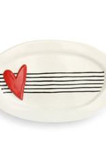 Demdaco Heartful Home | Red Heart Platter