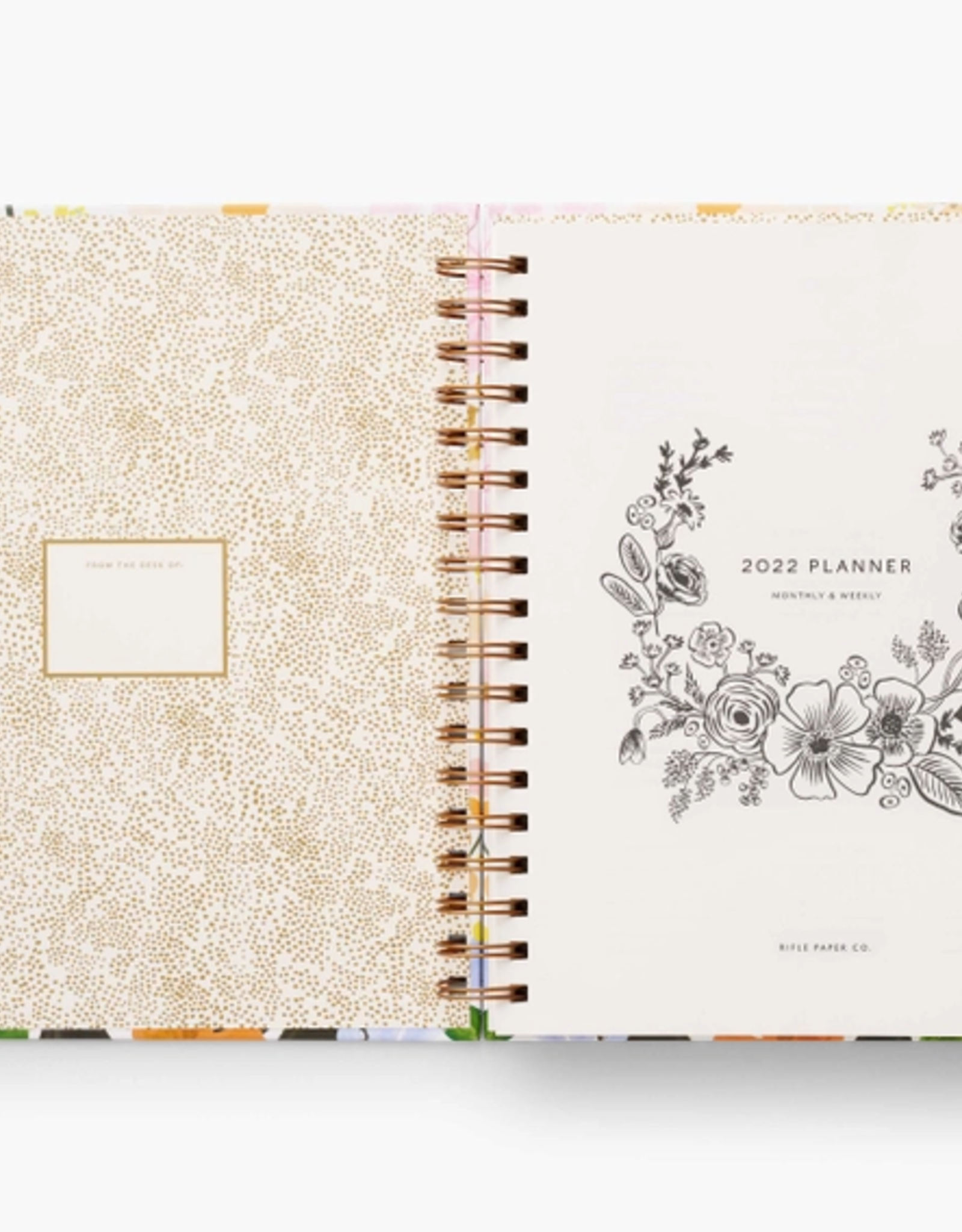 Rifle Paper Co. RPC   Marguerite 17mo Hard Cover Spiral Planner