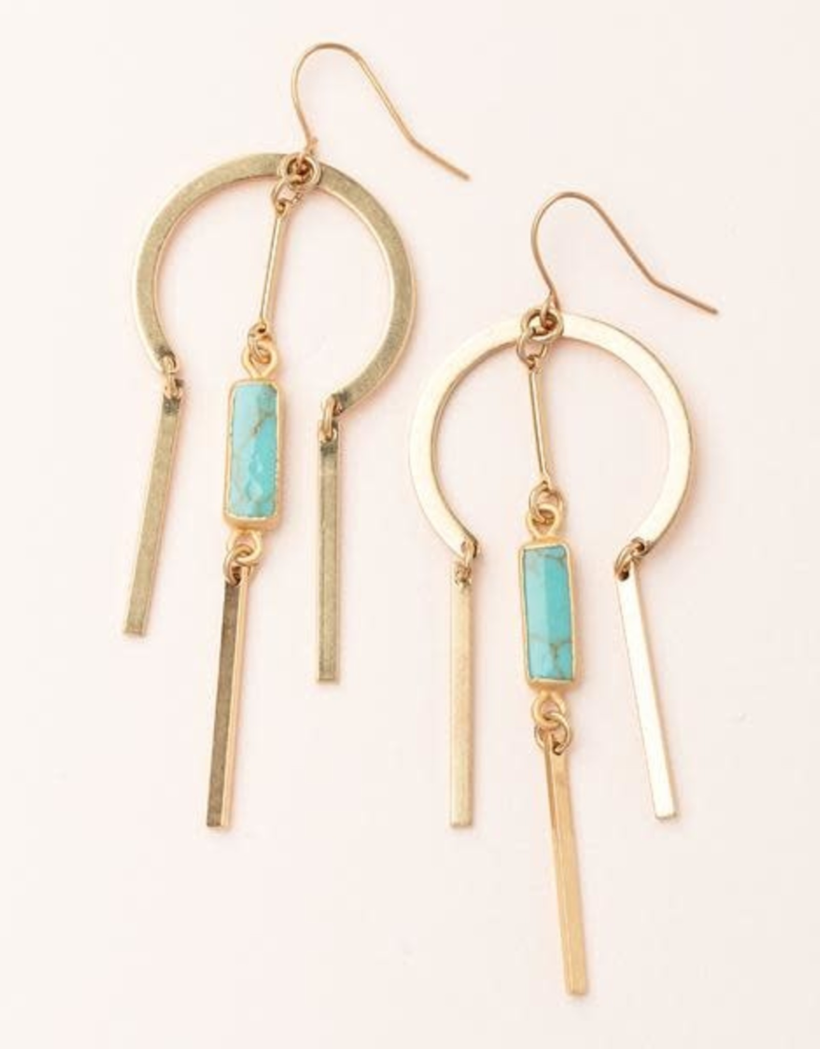 Scout Curated Wears Scout   Dream Catcher Stone Earring - turquoise/gold
