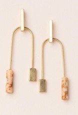Scout Curated Wears Scout | Stone Balance Earrings - pink/gold