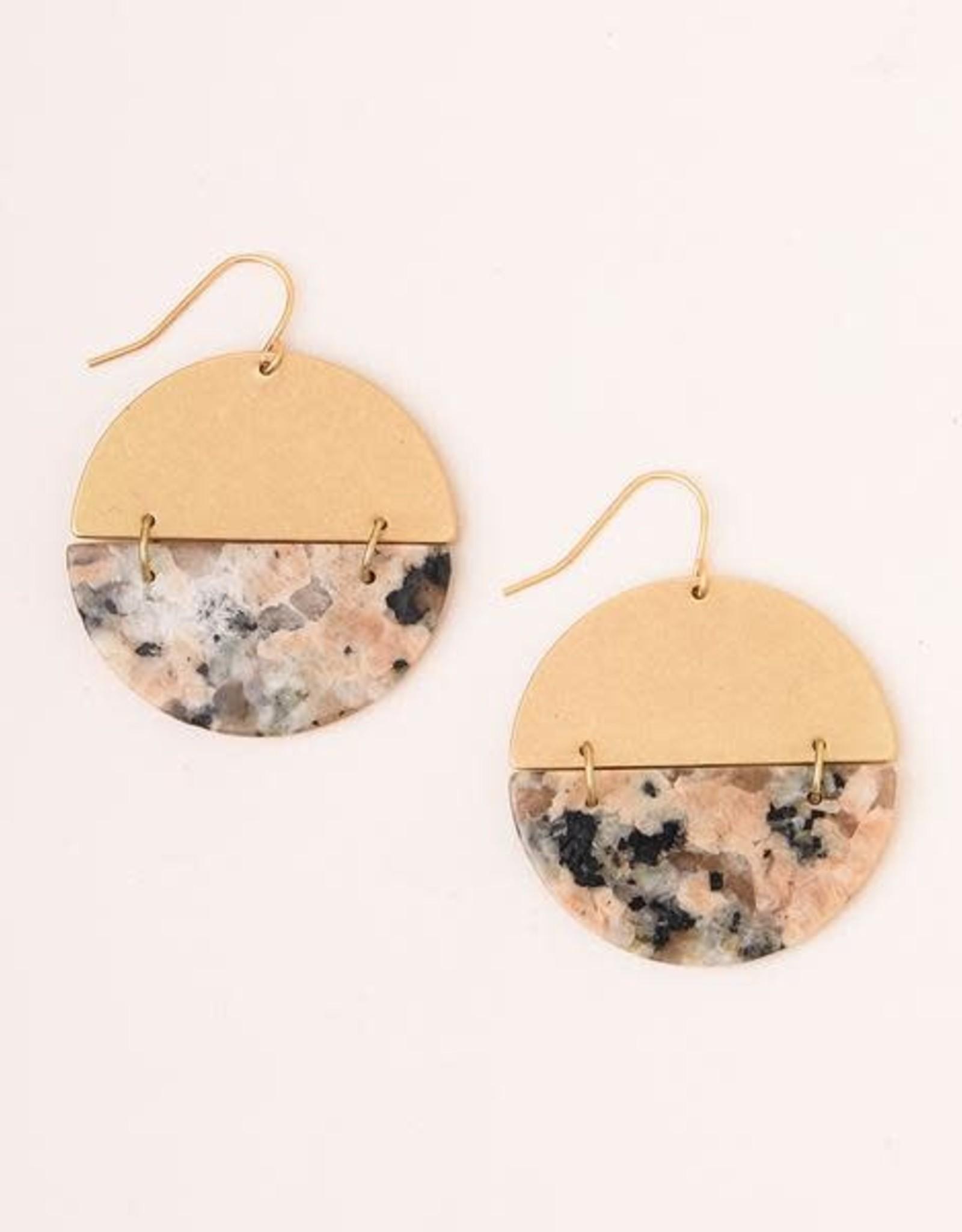 Scout Curated Wears Scout   Full Moon Earrings - Rhodonite/gold