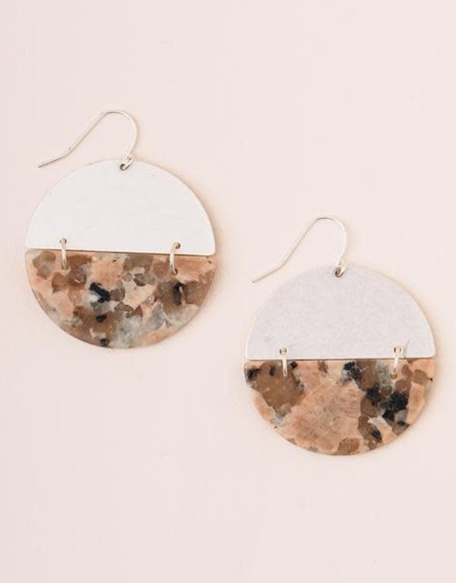Scout Curated Wears Scout   Full Moon Earrings - Rhodonite/Silver