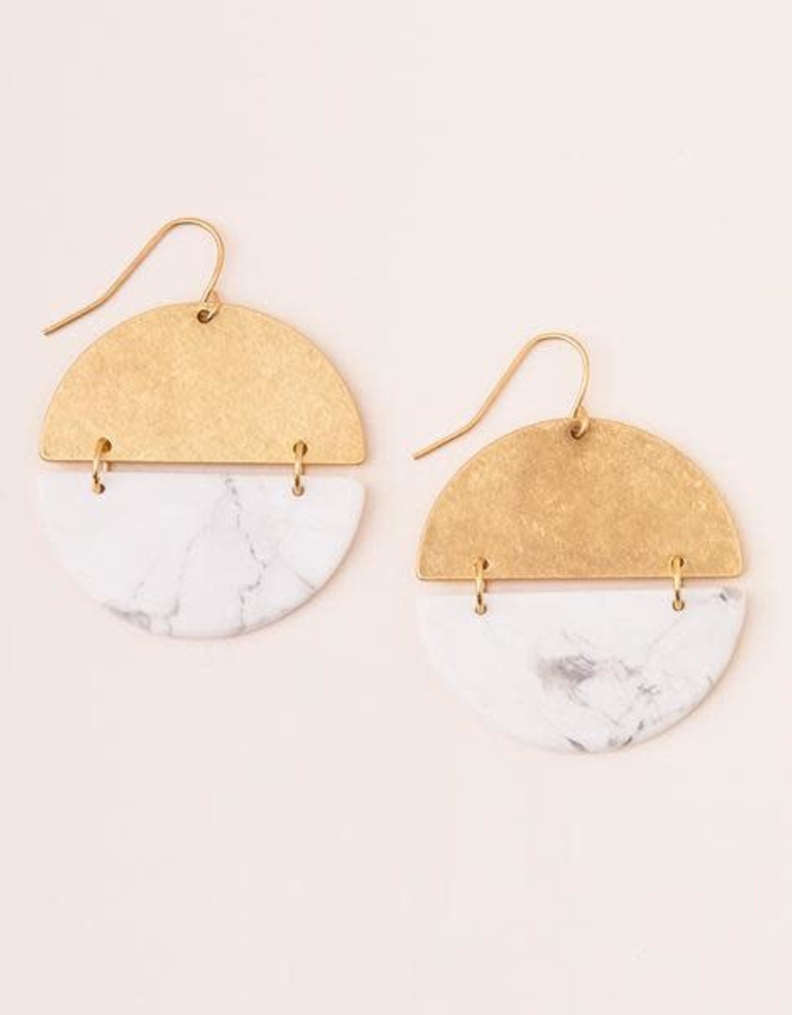 Scout Curated Wears Scout | Full Moon Earrings - Howlite/gold