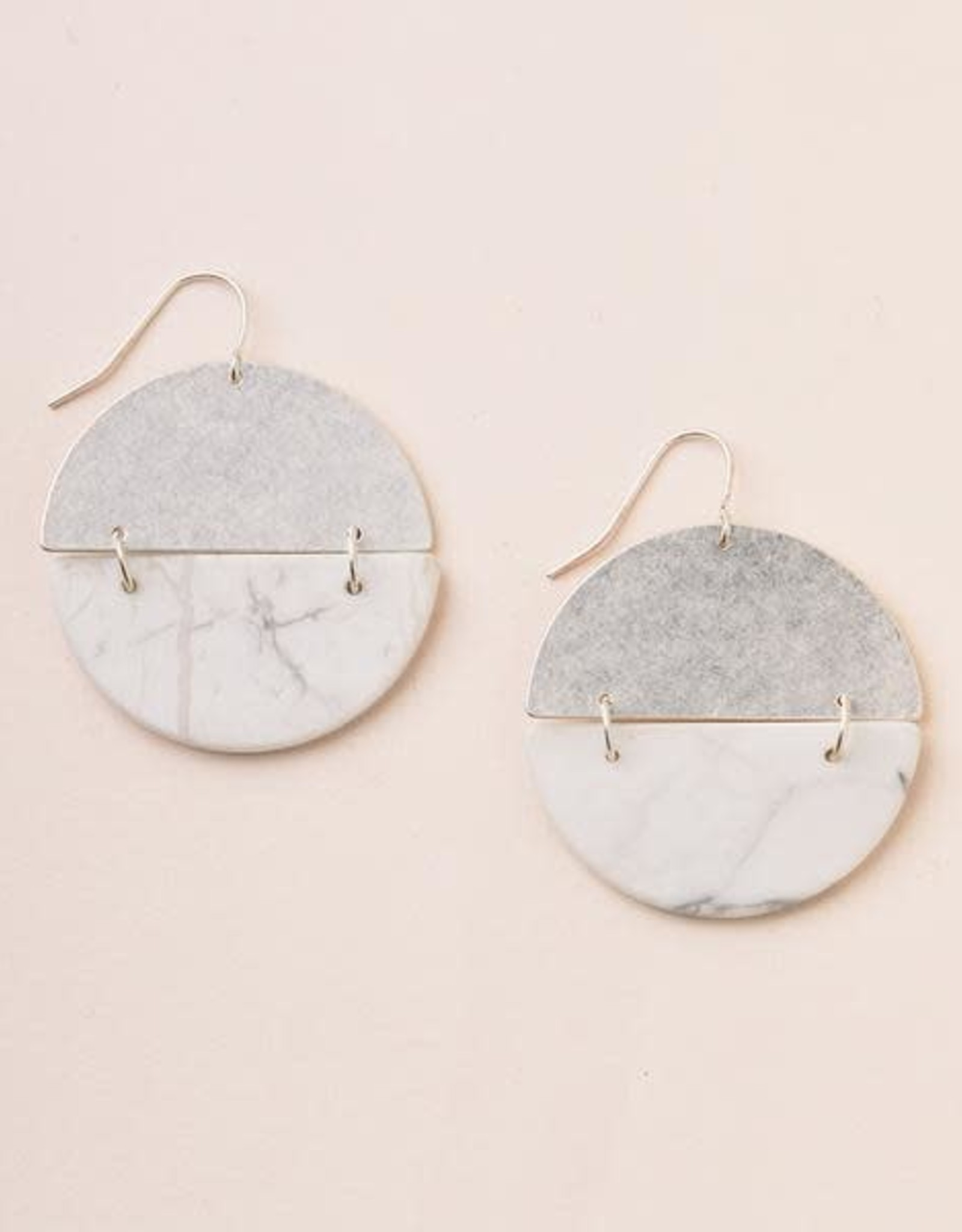 Scout Curated Wears Scout | Full Moon Earrings - Howlite/Silver