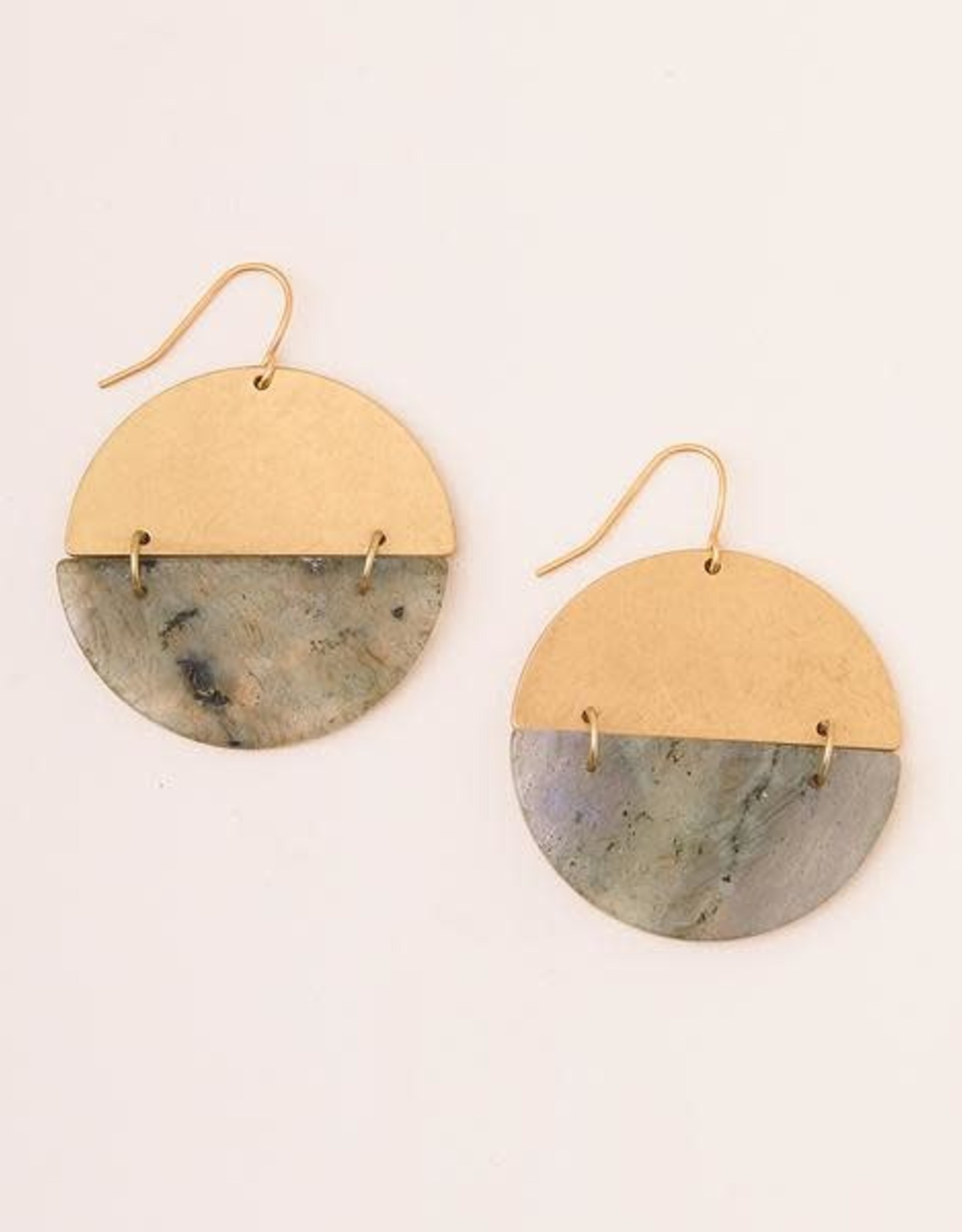 Scout Curated Wears Scout  Full Moon Earrings - Labradorite/gold