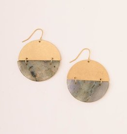 Scout Curated Wears Scout| Full Moon Earrings - Labradorite/gold