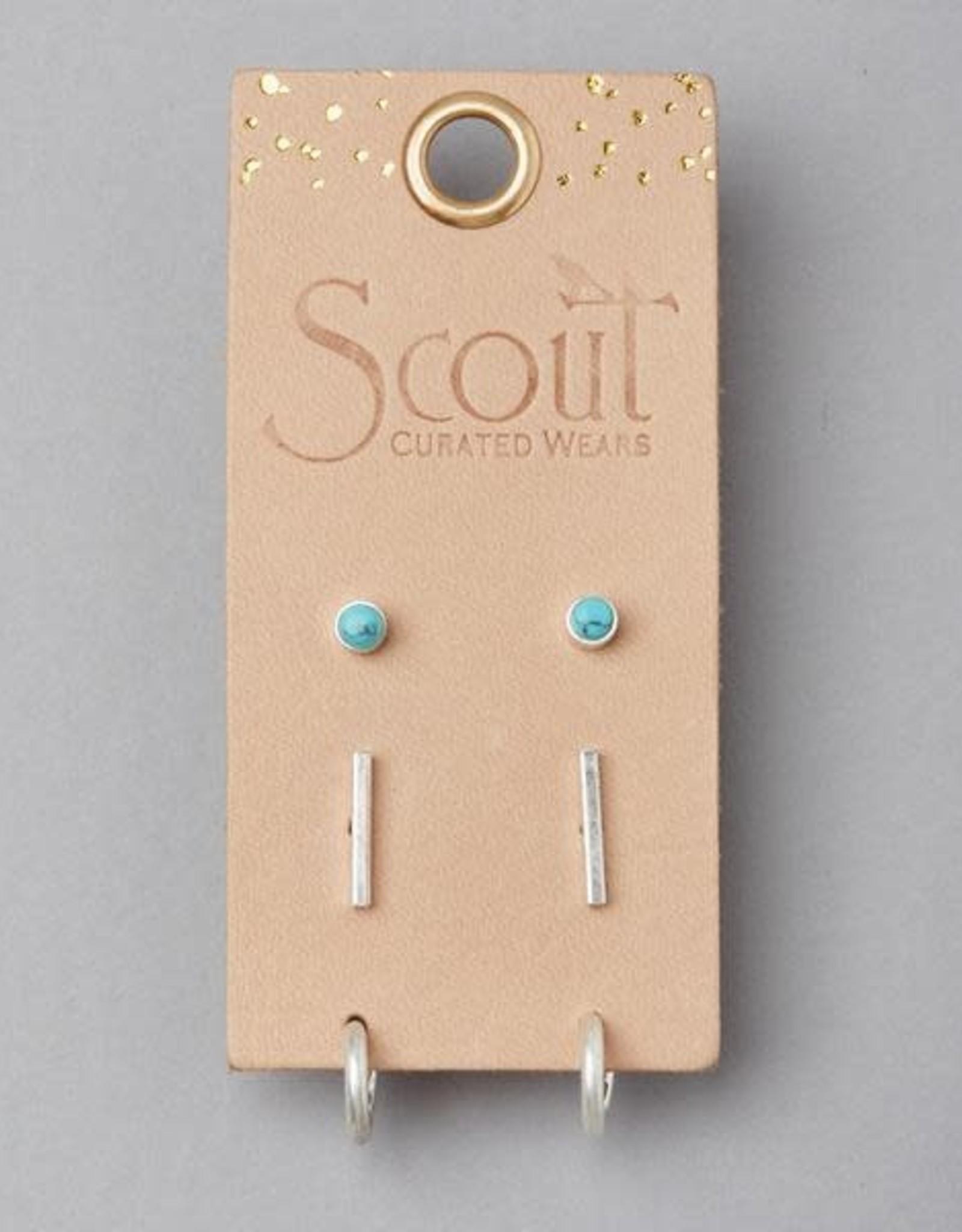 Scout Curated Wears Scout   Scarlett Stud Trio Earring Set - silver