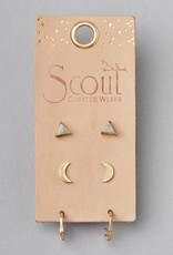 Scout Curated Wears Scout   Ella Stud Trio - gold