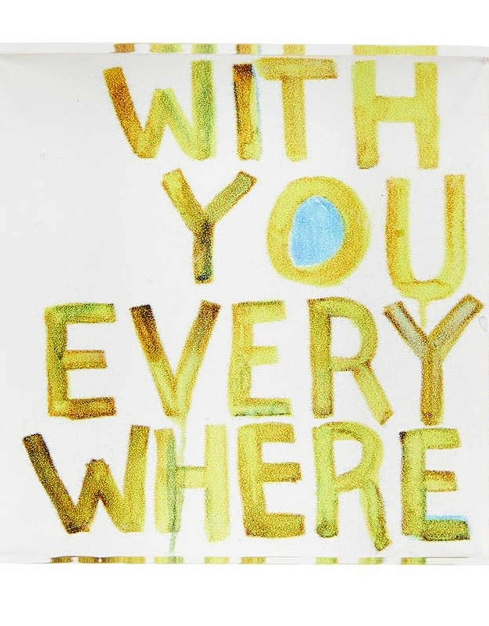 Santa Barbara Pieces of Me Lucite Block - With You Everywhere