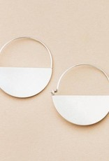 Scout Curated Wears Scout   Refined Earring Collection - Lunar Hoop/Sterling Silver