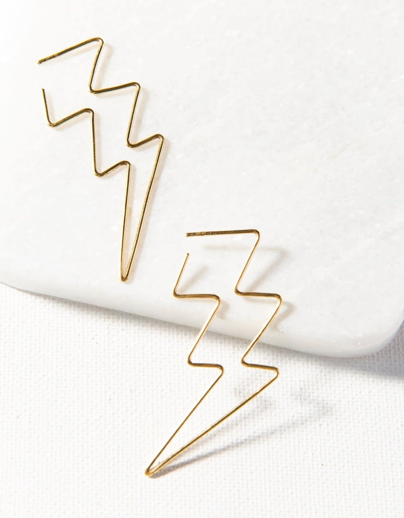 Ink + Alloy Ink + Alloy | lightning bolt wire earring