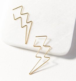 Ink + Alloy Ink + Alloy   lightning bolt wire earring