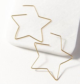 Ink + Alloy Ink + Alloy   Star wire earring