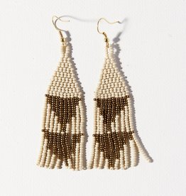 Ink + Alloy Ink + Alloy   Gold Ivory Small Diamond Earring