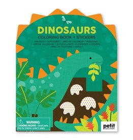 Petit Collage | Dinosaurs Coloring Book + Stickers