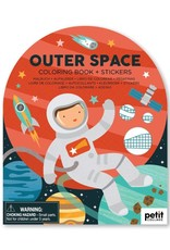 Petit Collage   Outer Space Coloring Book + Stickers