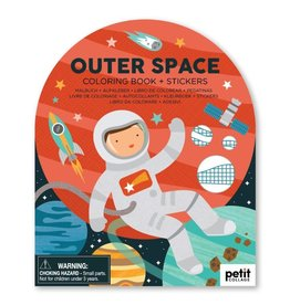 Petit Collage | Outer Space Coloring Book + Stickers