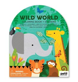 Petit Collage | Wild World Coloring Book + Stickers