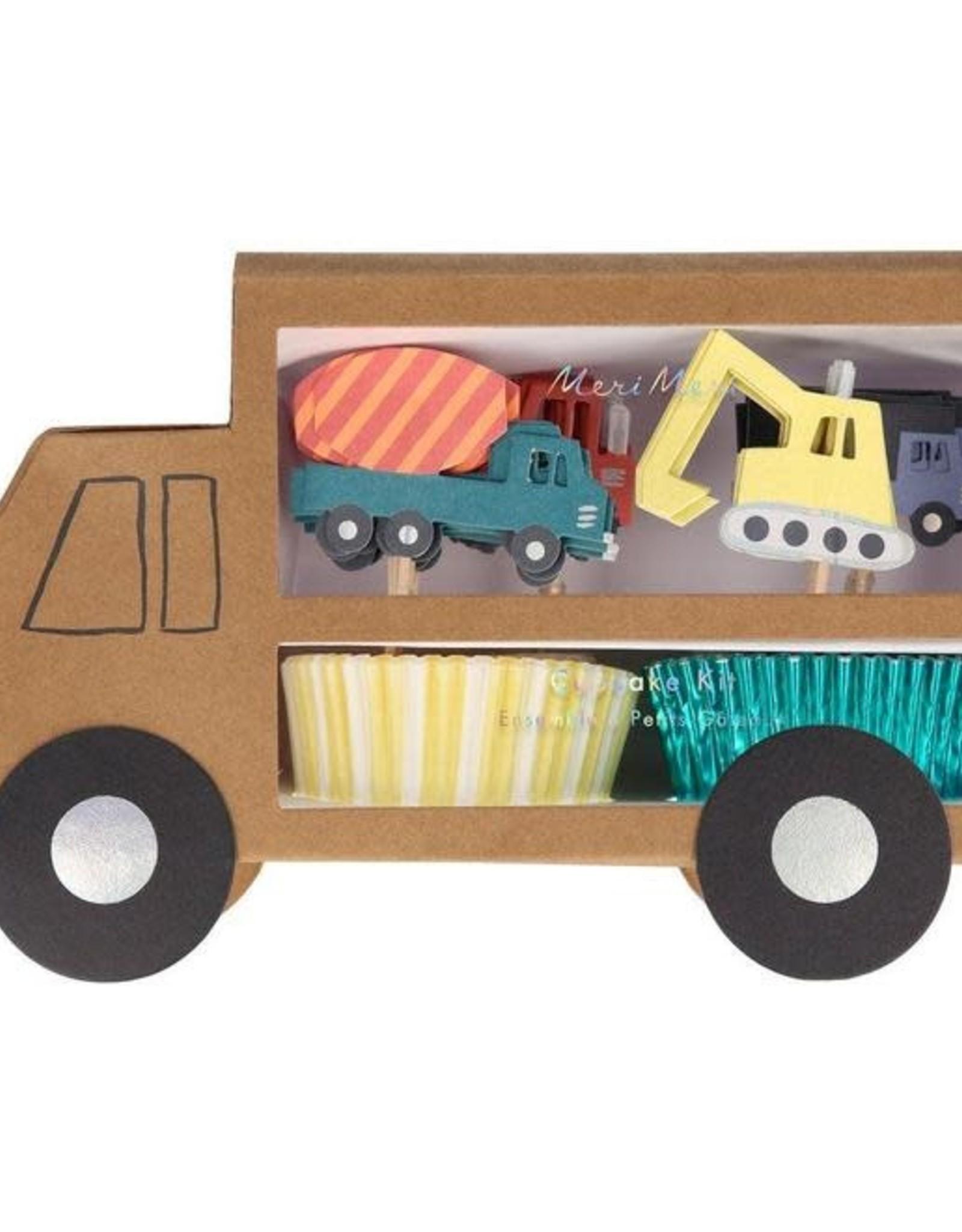 Meri Meri Meri Meri | Construction Cupcake Kit (set of 24 toppers)