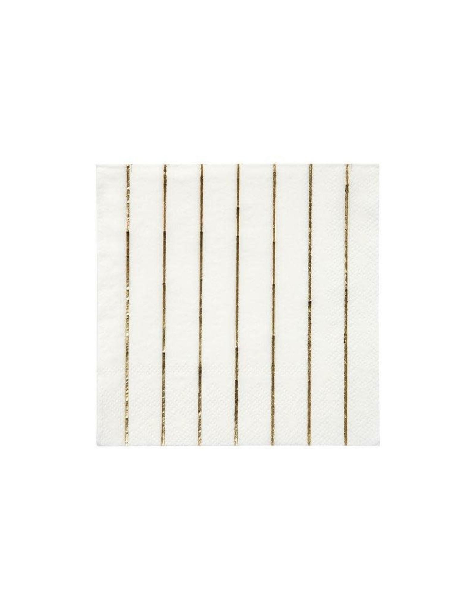 Meri Meri Meri Meri   Gold Stripe Small Napkins (set of 16)
