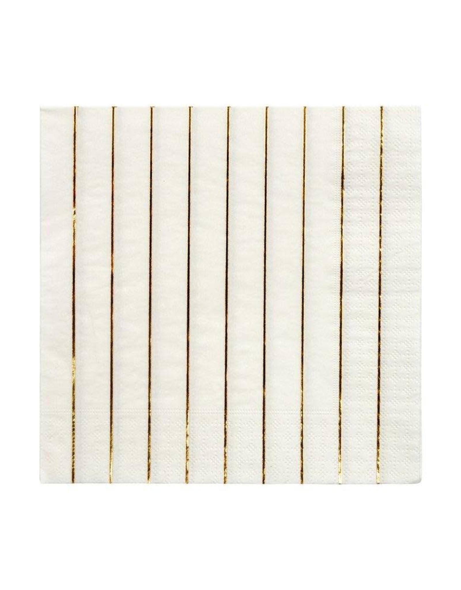 Meri Meri Meri Meri   Gold Stripe Large Napkins (set of 16)