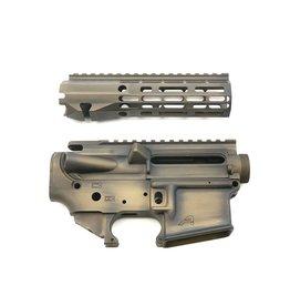 "Sam Diego Tactical AR15 Builder Set - Battle Worn Burnt Bronze - 7"" R-One M-Lok HG"